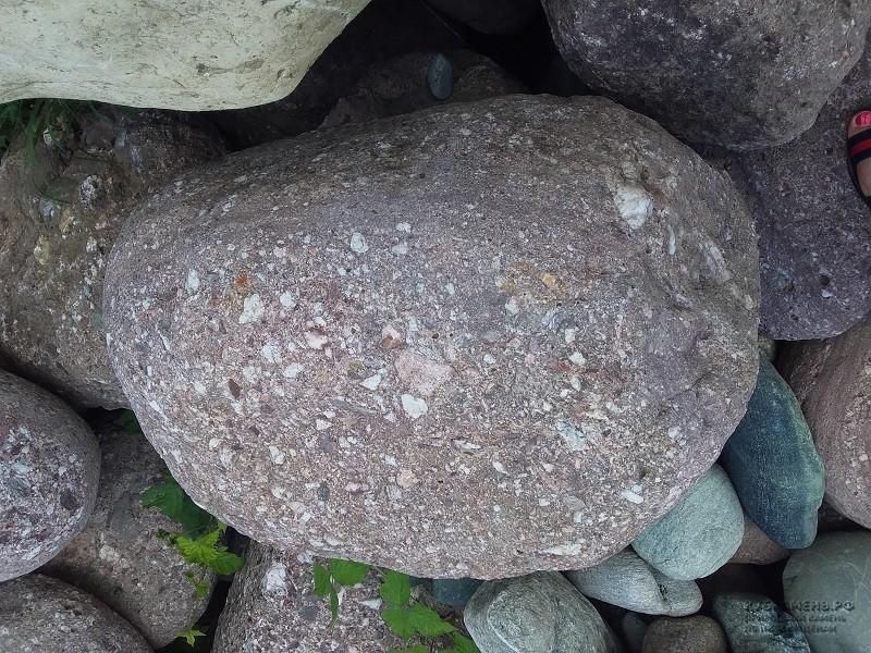 Купить камень конгломерат большие валуны