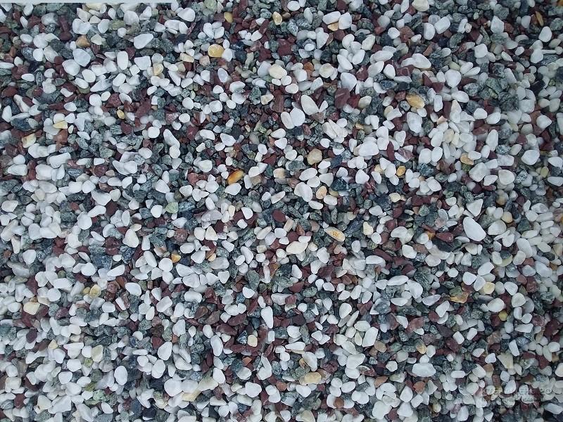 Купить галтованную каменную крошку MIX разноцветную оптом