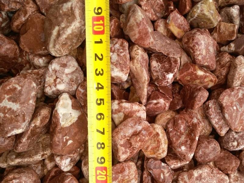 Галтованный розовый мрамор 5-10мм