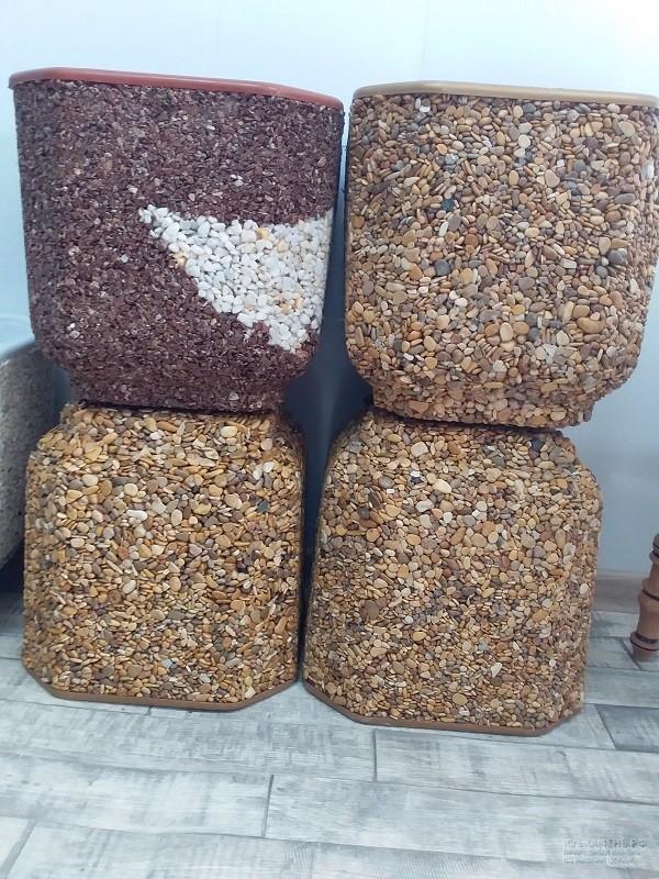 Купить декоративные горшки из камня