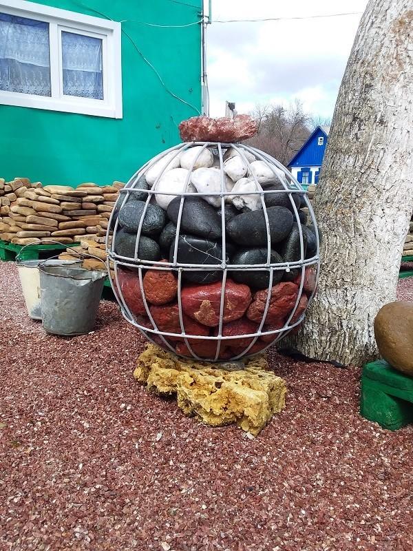 Декоративный шарообразный габион