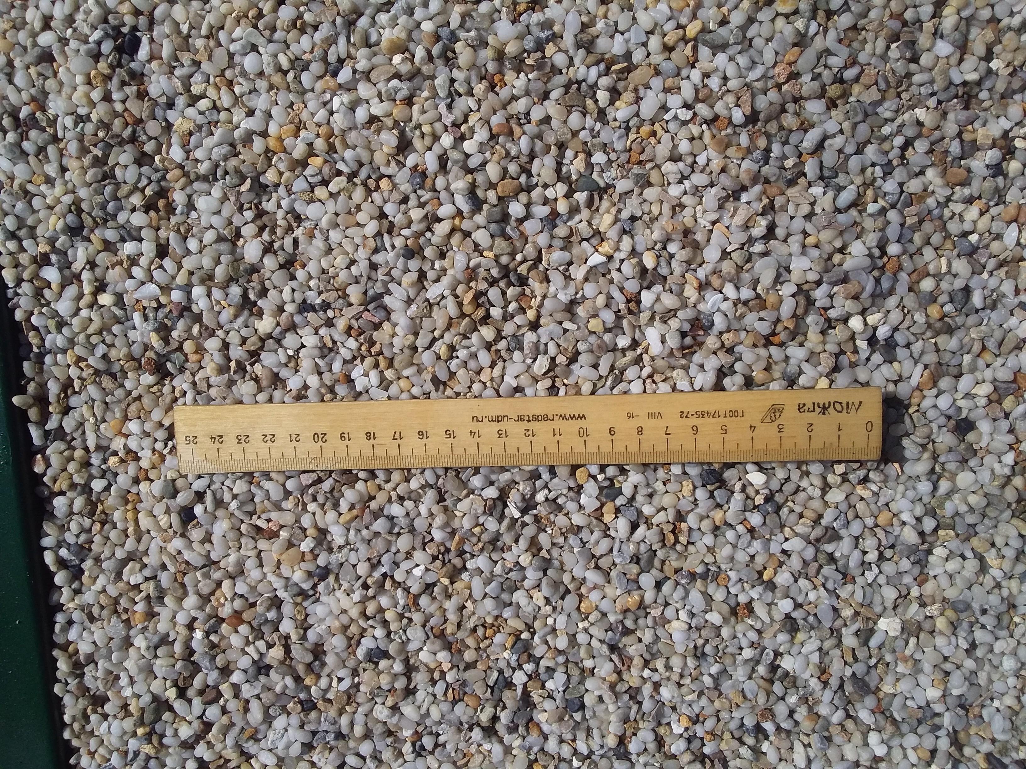 Купить мелкую гальку сеяную жемчужную оптом от поставщика по низкой цене с доставкой
